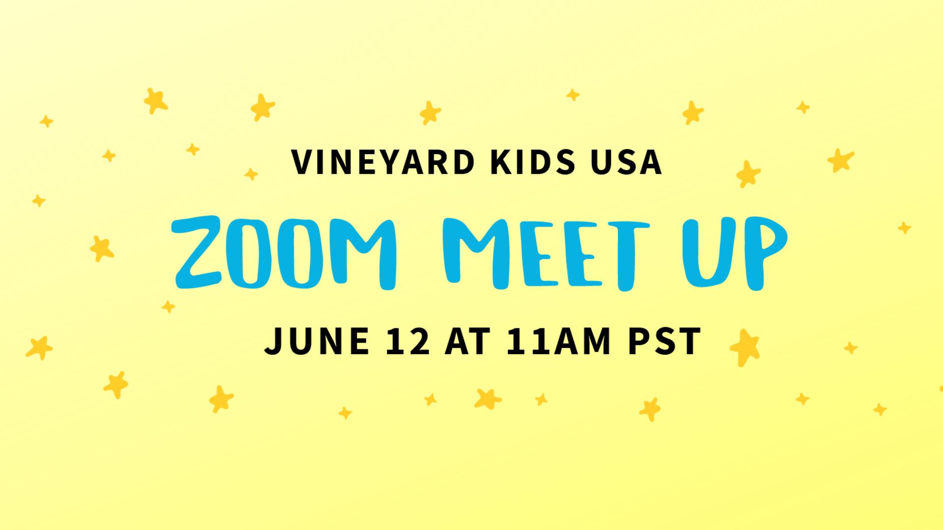 Vineyard Kids Ministry Leaders Zoom Meet Up